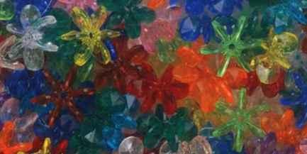 Starflake or Paddle Beads, Multicoloured, 18mm, 270pcs