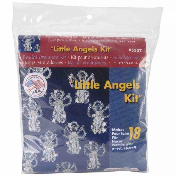 """Beaded Christmas Kit - Little Angels 2.5""""  Makes 18"""