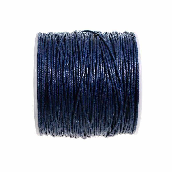 Cotton Cord Dark Blue 1mm, approx 100 yards