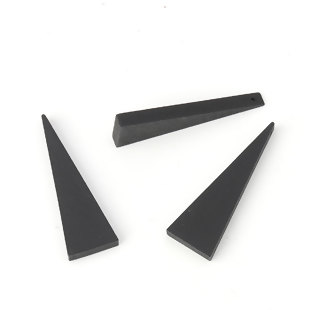 Wooden Beads, Triangle, Black, 41mm x 14mm, 30pcs