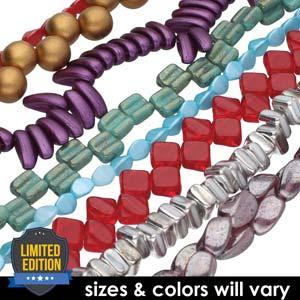 Czech Press Glass Beads Value Pack - Assorted Mix - 20 strands