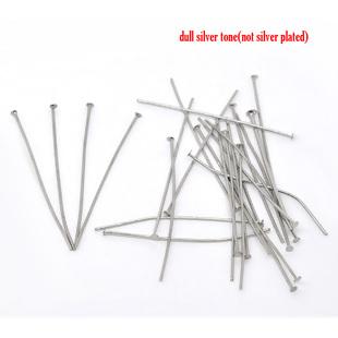 Head Pins, Antique Silver - Economy Range