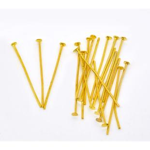 Head Pins, Gold Plate - Economy Range