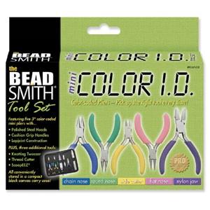 The Beadsmith mini 8 piece color id plier set