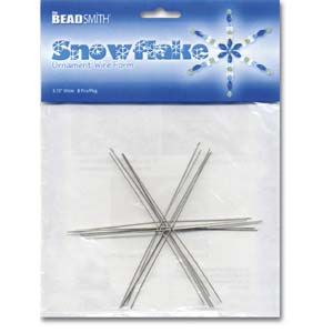 Snowflake or Star Wire Form, 4 1/2 inch,  7pcs by Beadsmith
