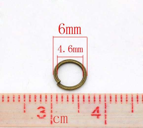 Antique Bronze, Jump Rings, 6mm, 1,000pcs