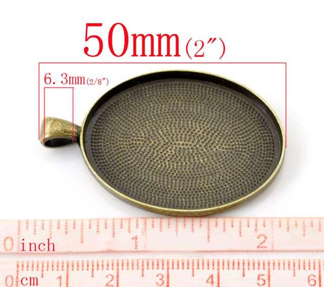 50x32mm-40x30mm Antique Silver//Bronze Charm Pendant Cameo Cabochon Setting Base