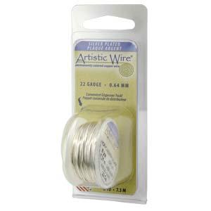 Artistic Wire Non Tarnish Silver, 18gauge 4yards