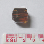 Acrylic Square Faceted Beads, 15mm, Amber, 10pcs