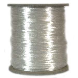 Rattail Satin Cord 3mm White 5 metres