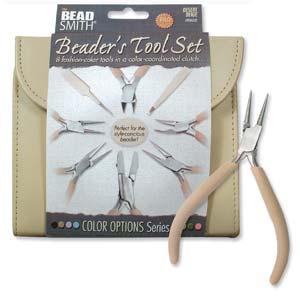 The Beadsmith Beaders Tool Set, Desert Beige,