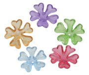 Acrylic Flower Beads, Mixed Colours, 16mm, 50 grams - Heaps