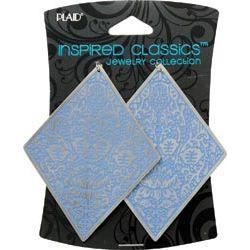 Inspired Classic Charm, Blue Embossed Diamond, 2/Pkg,