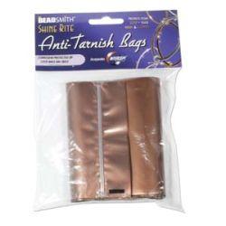 Anti Tarnish Storage Bags - Zip Lock, 4x6, 10pcs