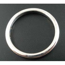 Antique Silver Circle Ring Acrylic Charm Bead 34mm Dia.  30pcs