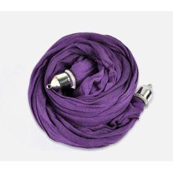 Scarf Shawl Soft Purple Cotton, 1.8m  1pc, just add charms on bottom!