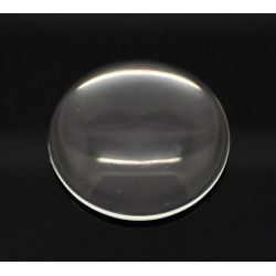 Cabochon, glass, clear, 35mm round dome. 5pcs