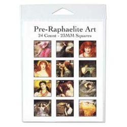 Pre-Raphaelite 23mm, square 4 x 11 inch collage sheet