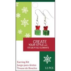 Create Your Style Swarovski Earring Kit - Gift Box green