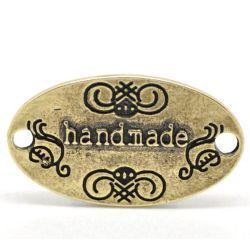 """Antique Bronze """"Handmade"""" Oval Connectors 32x18mm(1-1/4""""x3/4""""), 20pcs"""