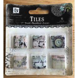 "Art Tiles Clay .75""X.75"" 6/Pkg - Pixie Glen"