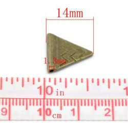 Antique Bronze Triangle Spacer Beads 14x14mm, 60pcs