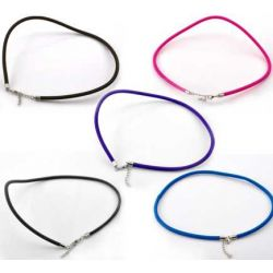 "Nylon Cord Necklaces In Assorted Colors 18"" Necklaces, 5pcs"