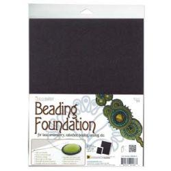 "Beading Foundation, Black, 8.5"" x 11""  4 sheets"