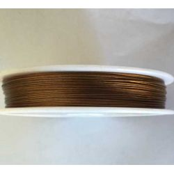 Antique Golden/Brown Tiger Tail Beading Wire  0.45mm, 100 metres