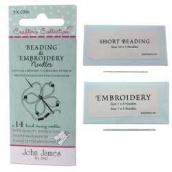Beading and Embroidery Needles 14pcs - John James