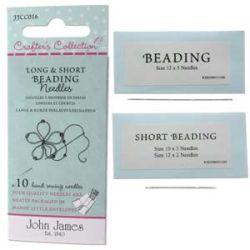 Beading Needles Long and Short Assorted 10pcs - John James