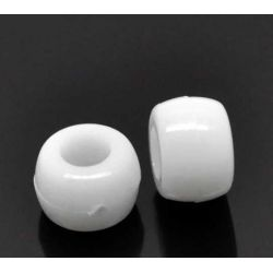 white pony beads for craft
