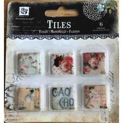 """Art Tiles Clay .75""""X.75"""" 6/Pkg - Romantique Style 2"""
