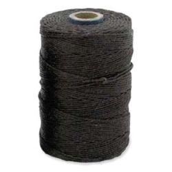 Irish Waxed Linen Black 4ply 100 yards