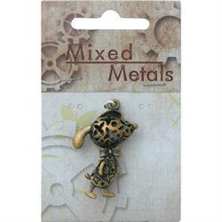 Antique Bronze Feature 3D Creature with Bag Pendant 1pc, - Ribtex Mixed Metals