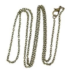 Antique Bronze Cable Chains, lobster clasp, 62cm (24 inches) 12 pcs