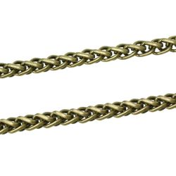 Antique Bronze Link Chain, 12mm x8mm, 1 metre - Chunky