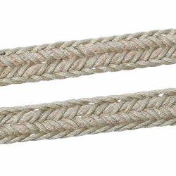 Wax Braided Rope, Flat, Beige, 9.8mm, 5 metres