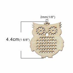 Wood Charm Pendants, Raw, DIY Cross Stitch, 44  x 41cm, 20pcs