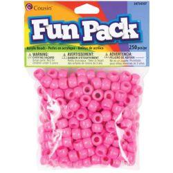 Pony Beads Pink - opaque, 9x6mm, 250pcs