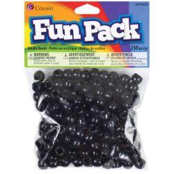 Pony Beads Black - opaque, 9x6mm, 250pcs