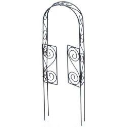 Wire Rustic Arch Door With Pick - Fairy Garden Ornament