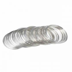 Memory Wire for Beading bracelets, Antique Silver Plate, 5.8cm dia, 200 loops