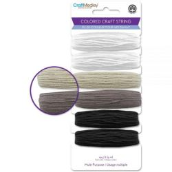 Cotton Craft String - Black White Mix, 29.5 yards
