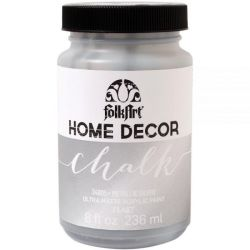 Chalk Paint Metallic Silver, 8 oz  - Folk Art