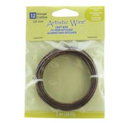 Artistic Wire Antique Copper 12 gauge (2.1mm) 3.1metres