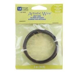 Artistic Wire Antique Copper 14 gauge (1.6mm) 3.1metres