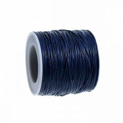 Waxed Cotton Cord Dark Blue 1mm, approx 100 yards