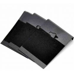 Black flocked earring card, no print on card,  50pcs