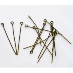 Eye Pins, Antique Bronze Plated, - Economy Range